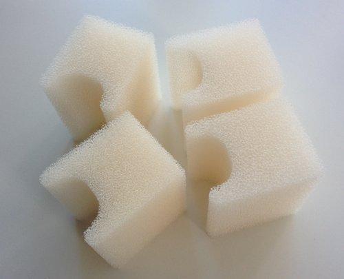 Finest-Filters 4 almohadillas de filtro de espuma compatibles para adaptarse a la gama Fluval U1 de filtro interno.