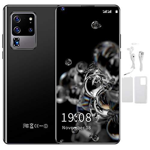 Teléfono, teléfono de desbloqueo de huellas dactilares de expansión 128GB, teléfono inteligente con tarjeta SIM 3G, para regalo Android(black)