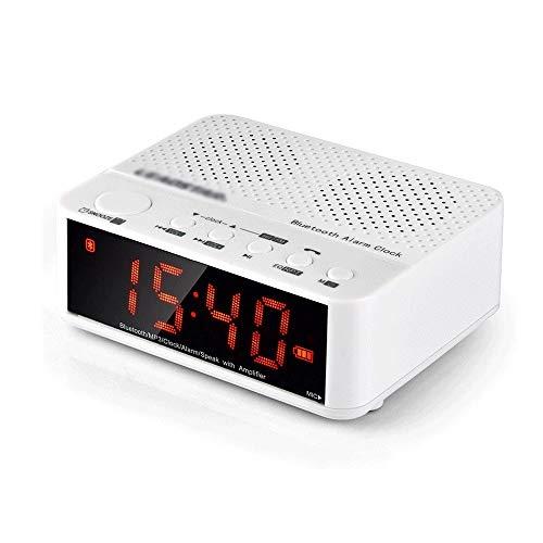 SYLOZ Alarma Reloj Digital Radio Digital FM de Doble Radio Reloj Despertador, teléfono móvil del Color de la Pantalla LCD-USB de Carga Sonido, Dormitorio de Noche