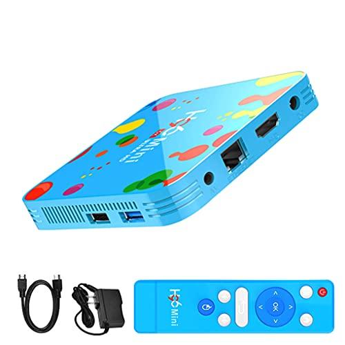 worahroe H96 TV Box 6K Ultra HD Reproductor Reproductor de Red H96 de Red H6 Quad-Core 4G 128G Reemplazo para Andriod 9.0 Enchufe de la UE