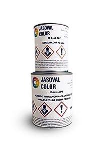 Pintura Antideslizante para Platos de Ducha de Resina - 1,5kg - (Gris Antracita)