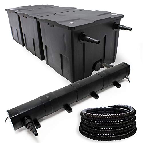 Kit SunSun de Filtration de Bassin Bio Filtre 90000l Stérilisateur UVC 72W 5m Tuyau