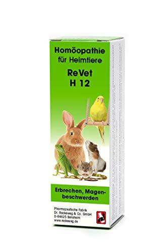 ReVet H 12 Globuli für Heimtiere -Homöopathisches Arzneimittel für Heimtiere, freiverkäuflich, 10 g