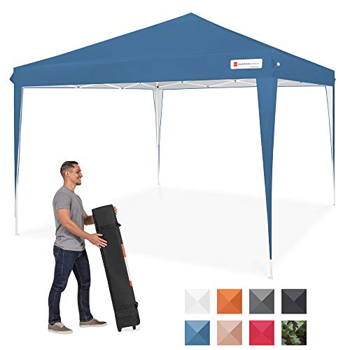 Best Choice Products Outdoor Portable Adjustable Instant Pop Up Gazebo Canopy Tent w/Carrying Bag, 10x10ft - Blue