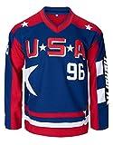 Camiseta de hockey sobre hielo Charlie Conway #96 Mighty Ducks Verde/Blanco, Azul / Patchwork, X-Large