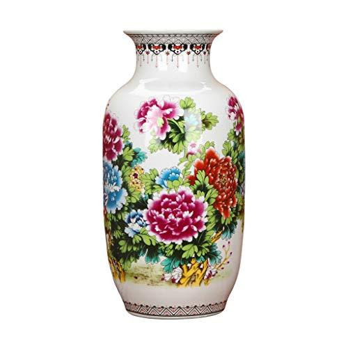 HongLianRiven inredningsaccessoarer vaser-keramik-pastellpioner-blommor-värdefull vinter-meloner-landningvas modern kinesisk inredning 8–153