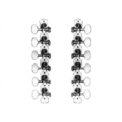 Verchroomde mini-tondeuse voor 12 snaren. Ordening 6+6.