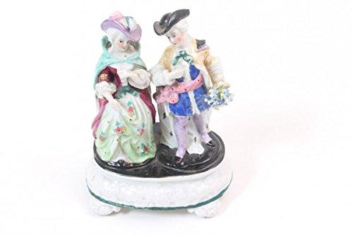 vintage13.de Figurenpaar Original Antik Porzellan Rokoko restauriert Bemalt Galant 19. Jhd.