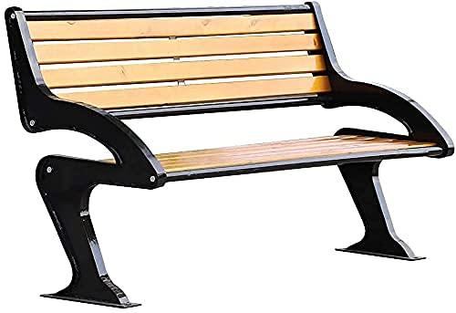 Banco al aire libre Banco de patio, muebles de porche delantero, banco de parque, banco de metal para sillas de exterior, banco de jardín, cómoda silla de jardín para 2-3 personas, para balcón /