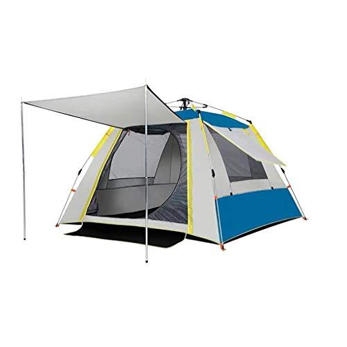 HongTeng Campingzelt, Sonnenschutz Silberband, 3-4 Personen, gepolsterte wasserdichte Strandangelzelt Markise 210 * 210 * 140 cm (Color : Sky Blue)
