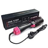 Asciugacapelli, asciugacapelli con spazzola ad aria calda di aggiornamento 4 in 1, asciugacapelli multifunzionale a ioni negativi, pettine ad aria calda per tutti i tipi di capelli (nero)