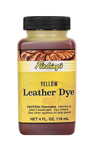 Fiebing's Leather Dye - Alcohol Based Permanent Leather Dye - 4 oz - Yellow