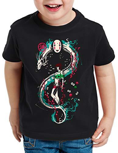 style3 La Aventura de Chihiro Camiseta para Niños T-Shirt Spirited Away sin Rostro, Talla:164