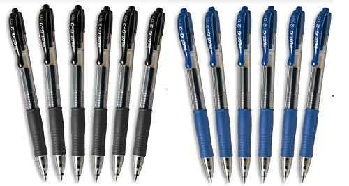 Boligrafos pilot g2 pack 12 u.(6 azules,6 negros)
