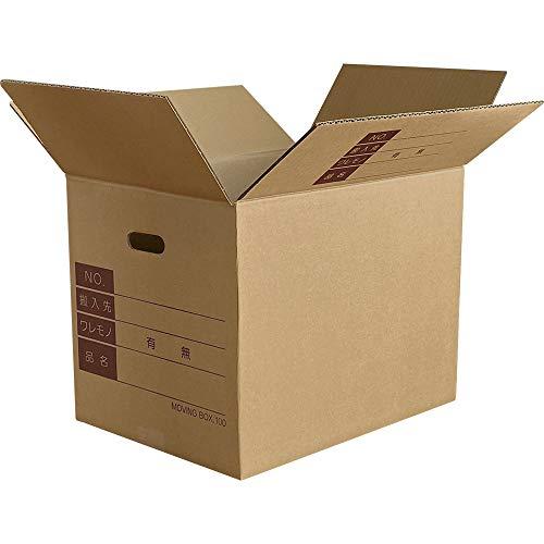 ボックスバンク ダンボール 引っ越し 段ボール箱 100サイズ(記入欄・取っ手穴付)20枚セット FD06-0020-d 強化材質