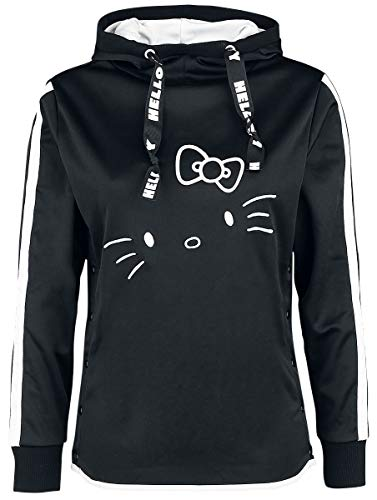 Hello Kitty Face Sweatshirt schwarz XL