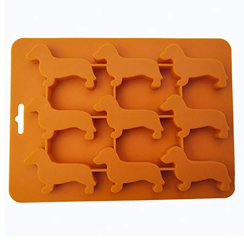 Cute Dog Shaped Silicone Ice Chocolate Moulds and Tray Dachshund Shaped Ice Cream Bowls for Main Kitchen