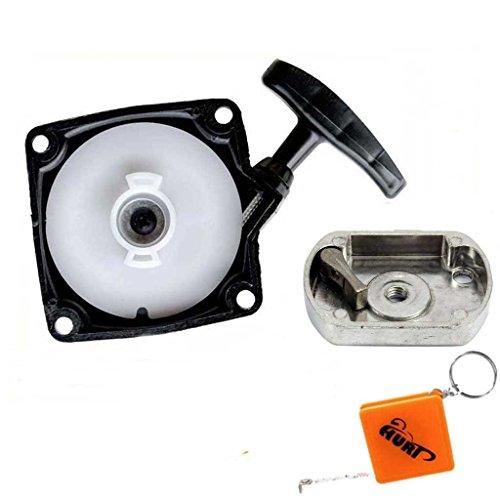HURI Seilzugstarter + Mitnehmerplatte für Timbertech MS52-2TL Motorsense Freischneider 3PS