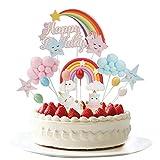 Colmanda Unicornio Decoración de Tartas, Decoracion Tarta Unicornio Cake Topper Unicornio Decoraciones de Pasteles cumpleaños Unicornio Cake para Tarta diseño de Unicornio Niños Cumpleaños