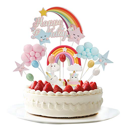 Colmanda Decorazione Torta Unicorno, Topper Unicorno Torta Unicorno Decorazione Torta Kit Unicorno Torta Decorazioni Cake Topper Kit Unicorno Party Cake Decorazioni per Compleanno