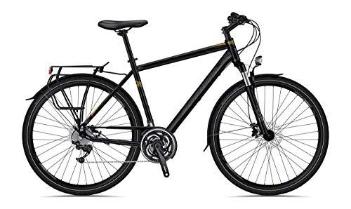 SPRINT Adventure Man 28' Bicicleta de Ciudad City Bike para Hombre 520 mm Negro Mate