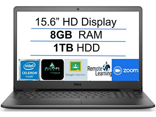 2021 Newest Dell Inspiron 15 Business Laptop Computer: 15.6' HD Display, Intel Dual-Core Celeron N4020(Up to 2.8GHz), 8GB RAM, 1TB HDD, WiFi, Bluetooth, HDMI, Webcam, Windows 10 S, Gift Mousepad