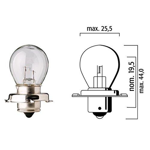 Lampen Flösser 12V 20W P26s klar Sockelbirne - 10er Box