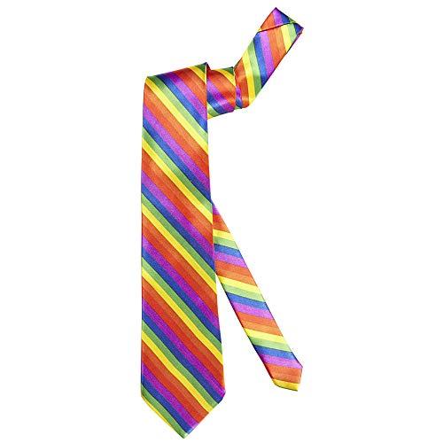 Widmann 05739 - Krawatte Regenbogen, One Size