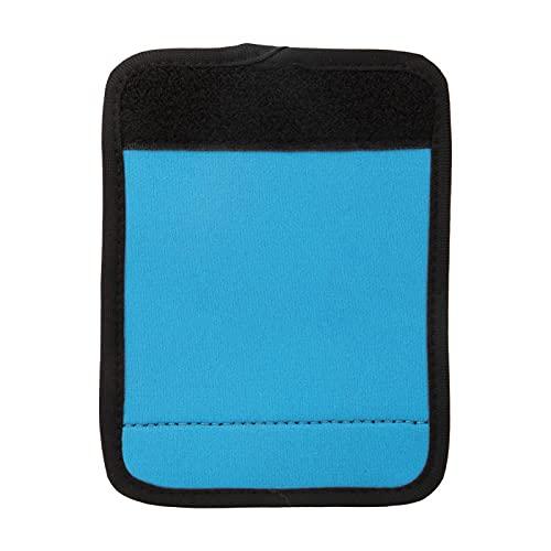 Housse de poignée de valise en néoprène Couverture de poignées d'emballage de bagages Portable pour poussette en fauteuil roulant Vélo pour la plupart des poignées pour chariot de courses(bleu)