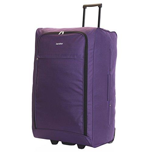 Karabar Extra Large Trolley Case Suitcase Luggage Bag XL 73 cm 2.5 kg 95 litres 2 Wheels, Alvik (Dark Purple)