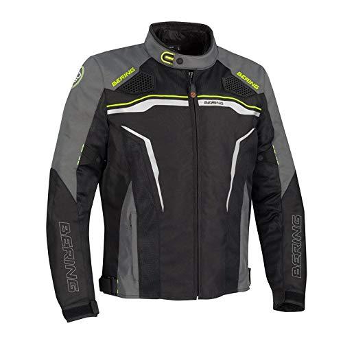 BERING, giacca da moto Batist nero, grigio, XL
