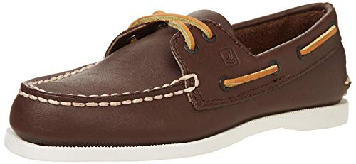 Sperry Top-Sider Boys' Authentic Original Boat Shoes,Brown Leather, 6.5 Big Kid (Best Way To Clean Sperry Topsiders)