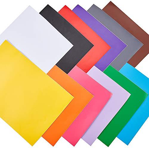 """NBEADS 12 Fogli 11.57""""X8.26"""" Fogli Adesivi Autoadesivi Opachi A4, Carte per Etichette Stampabili 12 Colori Carte per Adesivi Fai-da-Te Colorate per Stampante Laser A Getto D'Inchiostro per Ufficio"""