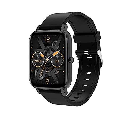 LHL Smartwatch, 1.69 Pulgadas para Hombres, Rastreador De Ejercicios H80, Pulsera Deportiva Impermeable, Reloj De Reloj De Ritmo Cardíaco, Adecuado para Relojes Inteligentes De iOS Android,A