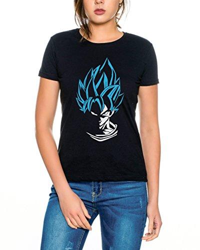 WhyKiki Super Son Goku Camiseta de Mujer Goku Dragon Master Son Ball Vegeta Turtle Roshi Db, Farbe2:Schwarz/Blau;Größe2:XXL