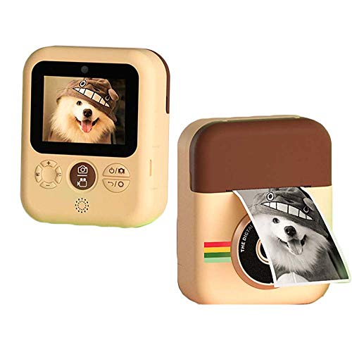 Kids Print Camera Polaroid, HD 2.4 Inches Screen Kids Video Camera with Dual Cameras, Children Selfie Toy Mini Camcorder, Best Gift for Birthday Christmas