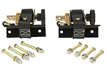 Mytee Products 1-1/2  x 7  Ladder Rack Ratchet Tie-Down Straps  Pair  Square Tube Mount Black