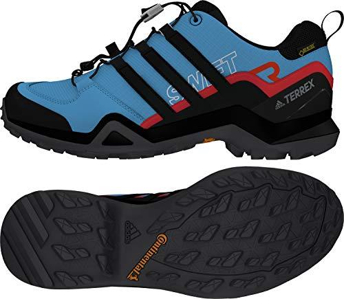 adidas outdoor Men's Terrex Swift R2 GTX Shock Cyan/Black/Active Red 12.5 D US