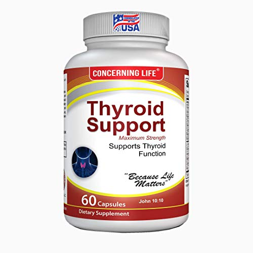 Thyroid Support Supplement with Selenium - Focus Formula with Metabolism & Energy Help - Non-GMO - Vitamin B12, Iodine, Zinc, Ashwagandha Root, Copper, Magnesium & More 30 Day Supply