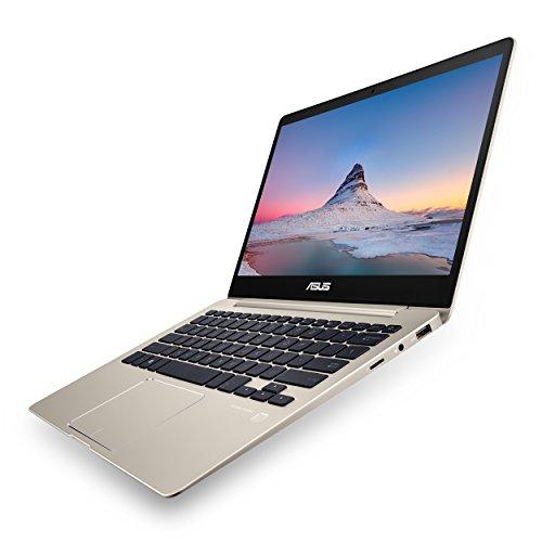 "Product Image 2: , ASUS ZenBook 13 UX331UA Ultra-Slim Laptop,13.3"" Full HD WideView display, 8th gen Intel Core i7-8550U Processor, 8GB LPDDR3, 256GB SSD, Windows 10, Backlit keyboard, Fingerprint, Icicle Gold"