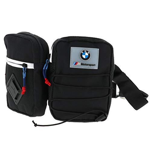PUMA BMW M MTSP Utility Bag Bandolera, Adultos Unisex, 1 (Negro), Talla Única