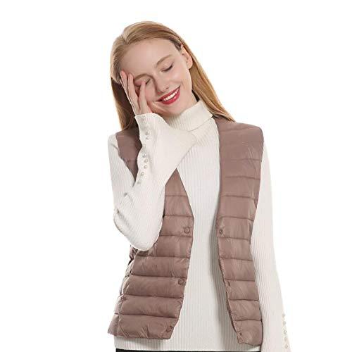 BILGFTG Verwarmend vest voor dames, oplaadbaar, verstelbaar, wasbaar, USB, oplaadbaar, verwarmbaar, kleding voor volwassenen, vrouwen (zonder accu)