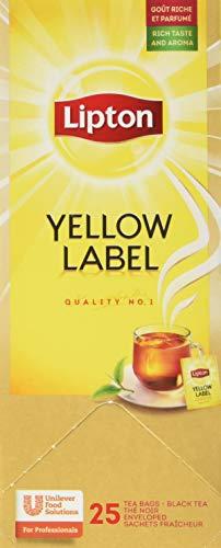 Lipton Yellow Label schwarzer Tee (aus sonnengereiften Teeblätter) 1er Pack (1 x 25 Teebeutel)