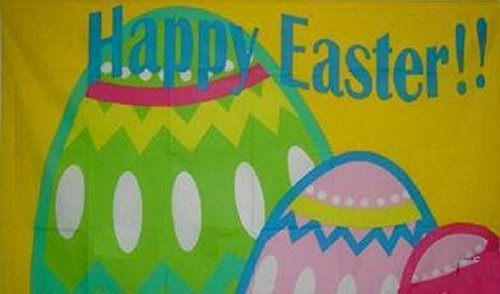 U24 Drapeau Happy Easter Joyeuses Pâques 90 x 150 cm