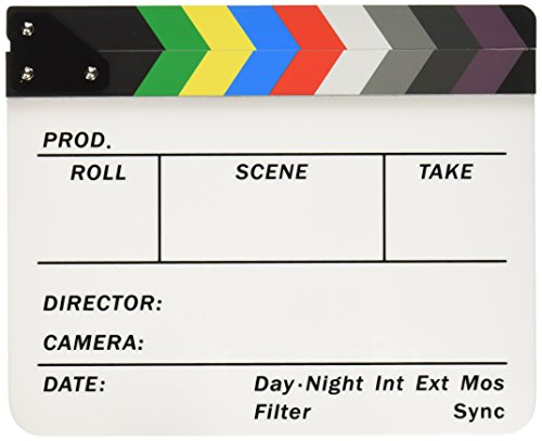 """Neewer Acrylic Plastic 10x12""""/25x30cm Dry Erase Director's Film Clapboard Cut Action Scene Clapper Board Slate with Color Sticks"""