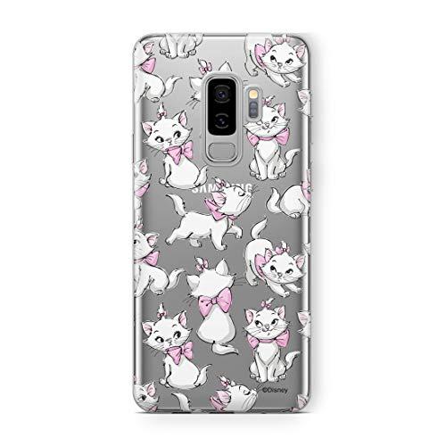 Estuche para Samsung S9 Plus Disney Marie Original con Licencia Oficial, Carcasa, Funda, Estuche de Material sintético TPU-Silicona, Protege de Golpes y rayones