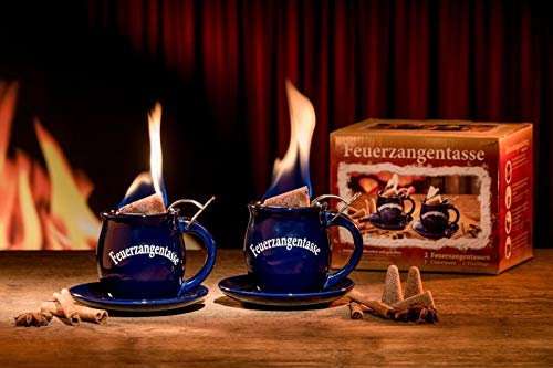Feuerzangentasse 2er-Set blau - smart