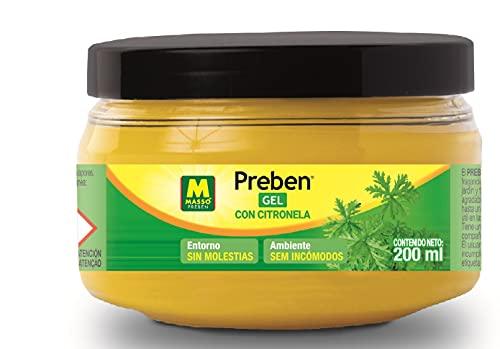 PREBEN 231267 Gel con citronela, Amarillo, 7.5x6.5x7.5 cm