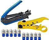 Elibbren Coaxial Compression Tool,Coax Cable...