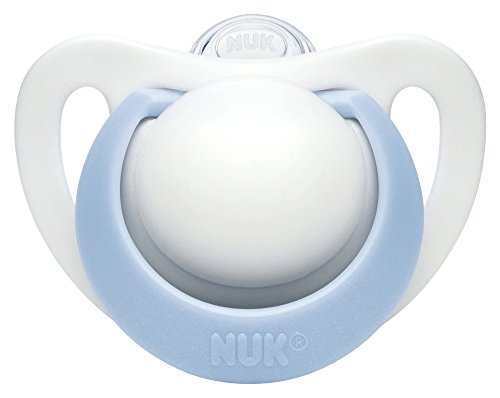 ヌーク NUK おしゃぶり きれいな歯並びのために ジーニアス 2.0 (キャップ付)S【0~6ヶ月】/シリコーン/ブル...
